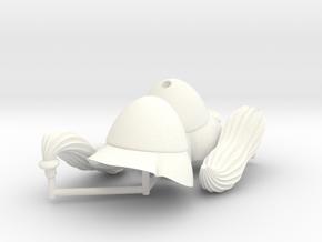 BEOTIAN HELMET #1  in White Processed Versatile Plastic