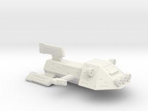 3125 Scale Kzinti Medium Scout Cruiser (MSC) SRZ in White Natural Versatile Plastic
