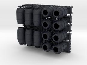 DeAgo Falcon 1/43 Cargo Barrels Boxes & crates in Black Professional Plastic
