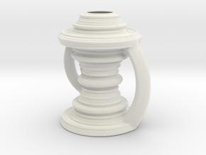 Vase 090921 in Matte Full Color Sandstone