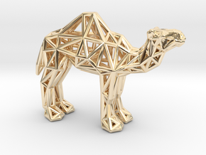 Dromedary Camel (adult) in 14K Yellow Gold