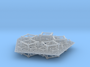 Polyfold Cubetube Fractal in Smooth Fine Detail Plastic