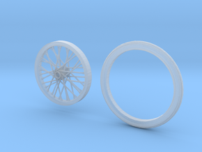 Drag wheel and tire 1/24 scale in Smoothest Fine Detail Plastic