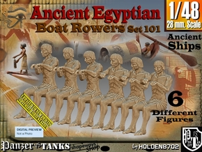 1/48 Ancient Egyptian Boat Rowers Set101 in Smooth Fine Detail Plastic