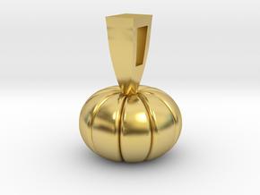 PUMPKIN in Polished Brass