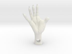 Opossum Foot,  1.5-Inch - 4mm hole-Plastics in White Premium Versatile Plastic