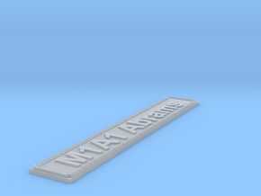 Nameplate M1A1 Abrams in Smoothest Fine Detail Plastic