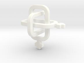 female/female Borromean rings in White Processed Versatile Plastic