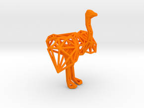Ostrich (male adult) in Orange Processed Versatile Plastic