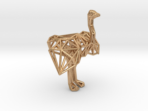 Ostrich (male adult) in Natural Bronze