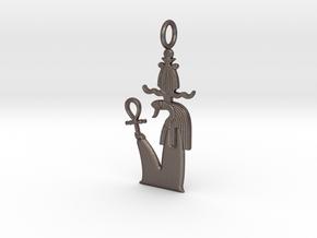 Nehebkau amulet in Polished Bronzed-Silver Steel