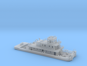 128' Pusher Boat in Z scale in Smooth Fine Detail Plastic
