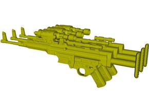 1/6 scale BlasTech A295 Star Wars V blasters x 3 in Smooth Fine Detail Plastic