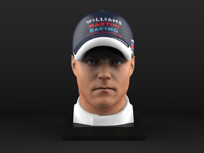 Valtteri 1/4 Head Figure in Full Color Sandstone