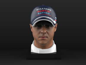 Felipe 1/4 Head Figure in Full Color Sandstone