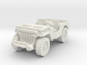 Jeep airborne scale 1/87 in White Natural Versatile Plastic