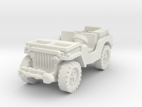 Jeep airborne (radio) scale 1/100 in White Natural Versatile Plastic