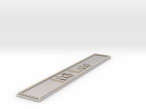 Nameplate M3 Lee in Rhodium Plated Brass