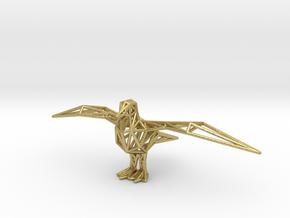 Gull in Natural Brass
