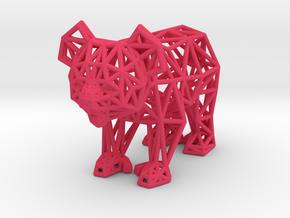 Koala (adult male) in Pink Processed Versatile Plastic
