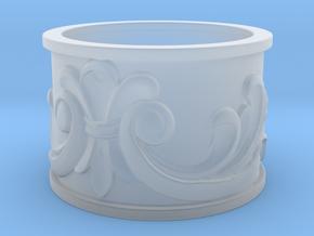 Flourish Ring in Smoothest Fine Detail Plastic: 4 / 46.5