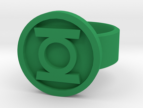 GL ring size 10 in Green Processed Versatile Plastic