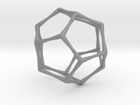 Dodecahedron - Small in Gray PA12