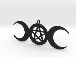 WitchMoon Pendant in Black Natural Versatile Plastic