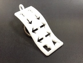 Konami Code Pendant - Wave in White Natural Versatile Plastic