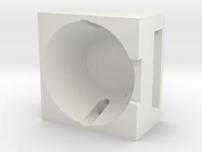 119 headlight reflector support in White Natural Versatile Plastic