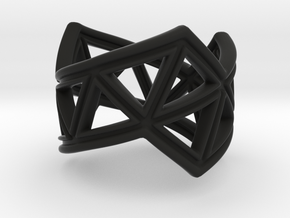 Phylloframe Ring 2 in Black Natural Versatile Plastic: 4 / 46.5