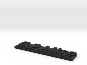 Jeep XJ LSX Swap 5.3 Emblem in Black Natural Versatile Plastic
