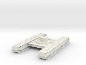 1/50th P&H Crane tracked Crawler undercarriage in White Natural Versatile Plastic