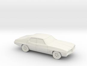 1/87 1968-72 Pontiac Le Mans Sedan in White Natural Versatile Plastic