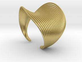 VEIN Cuff Bracelet in Natural Brass: Small
