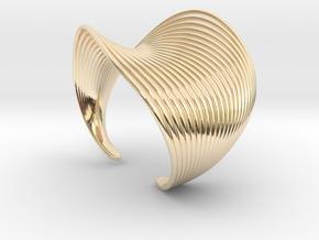 VEIN Cuff Bracelet in 14k Gold Plated Brass: Small