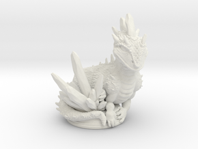 Crystal Dragon 54mm in White Natural Versatile Plastic