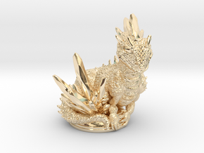 Crystal Dragon 54mm in 14k Gold Plated Brass