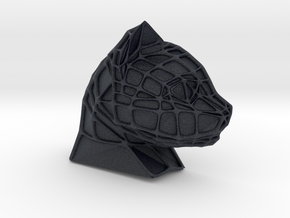 Cat Face + Voronoi Mask (001) in Black PA12