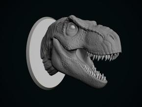Tyrannosaurus Rex Bust 1/50 in White Strong & Flexible