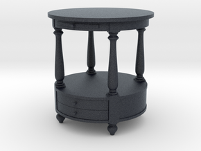 Miniature Stanley Side Table - Gramercy Home in Black Professional Plastic: 1:12