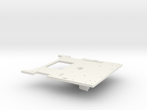 119 floor plate top MODIFIED FOR MOTOR in White Natural Versatile Plastic