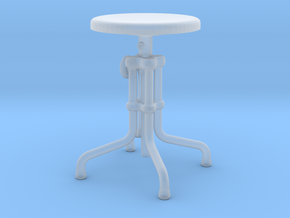 Miniature Isaac Counter Low Stool - Gramercy Home in Smooth Fine Detail Plastic: 1:12