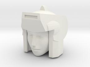 Lancer Head for POTP Moonracer in White Natural Versatile Plastic