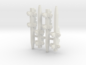 4x Triple Pylons for Arcadia Hard Points in White Natural Versatile Plastic: 1:60
