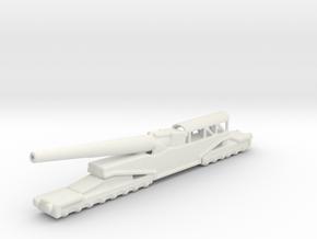 381/40 Italian railway artillery ww1 1/144 in White Natural Versatile Plastic