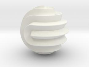 16 Point Sphericon in White Premium Versatile Plastic