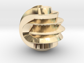16 Point Sphericon in 14k Gold Plated Brass