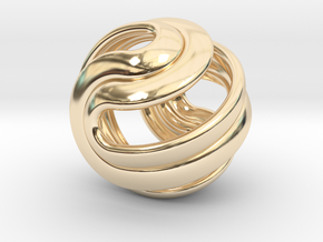 Hexasphericon Crease in 14K Yellow Gold