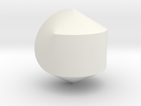Hexasphericon Solid & True in White Natural Versatile Plastic